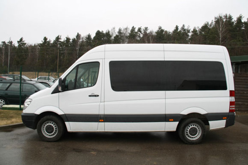 Sulaikytas mikroautobusas