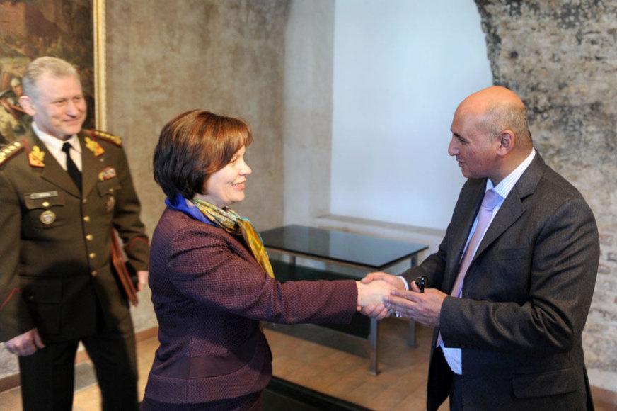 Rasos Juknevičienės ir Abdullah Haiwado susitikimas Krašto apsaugos ministerijoje