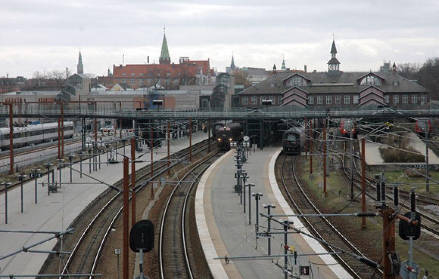 Geležinkelio bėgiai Kopenhagoje