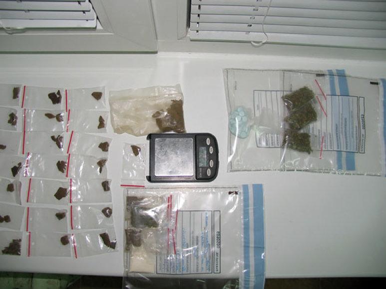 Pas įtariamąjį rasti narkotikai