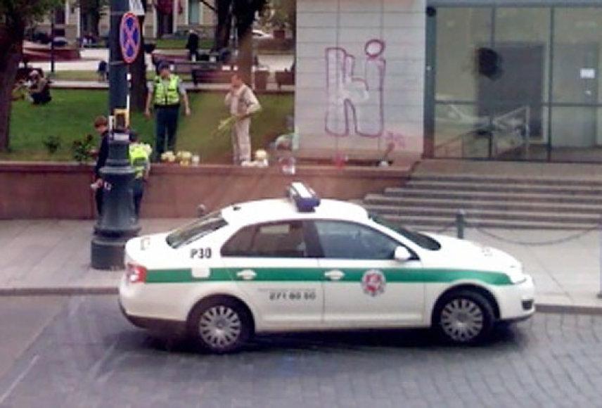 Policija sulaiko gėlių pardavėjus