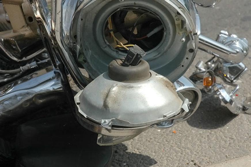 Apgadintas motociklas