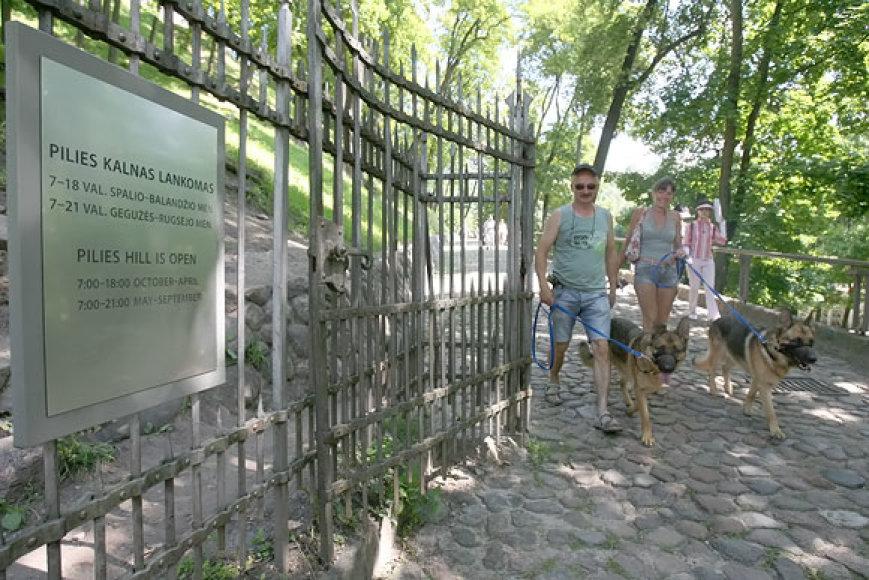Įėjimas į Gedimino pilies kalną