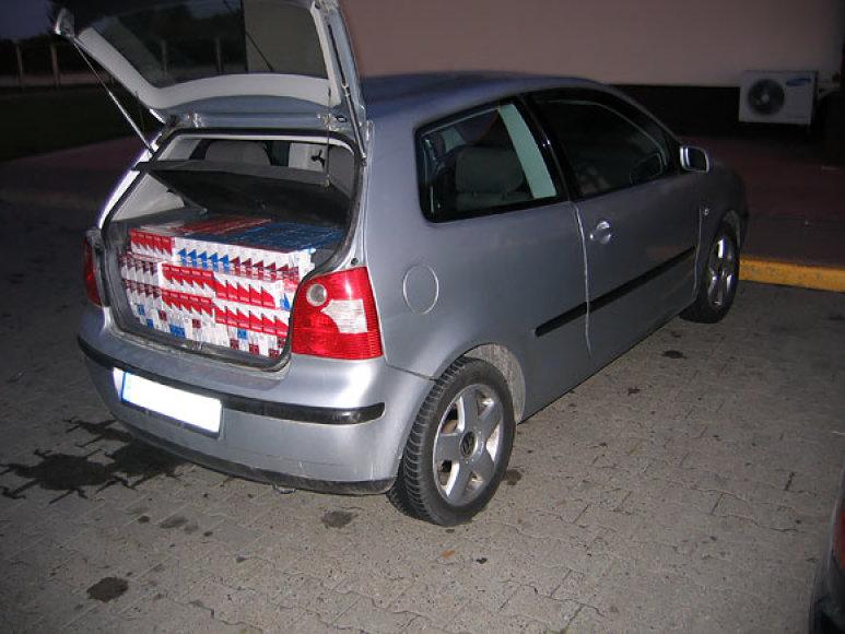 Į Lenkiją vežtos kontrabandinės cigaretės