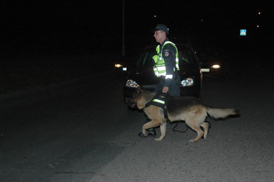 Tarnybinis policijos šuo įvykio vietoje