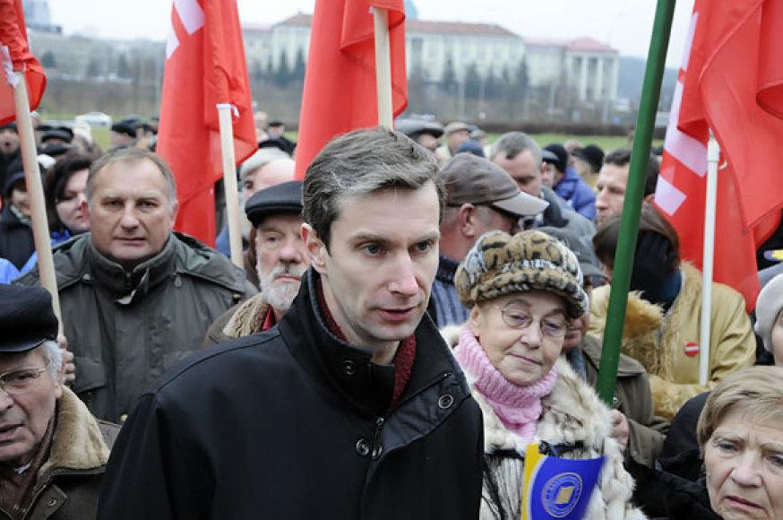 Algirdas Paleckis mitinge prie Seimo