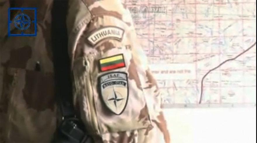 Kadras iš NATO televizijos reportažo