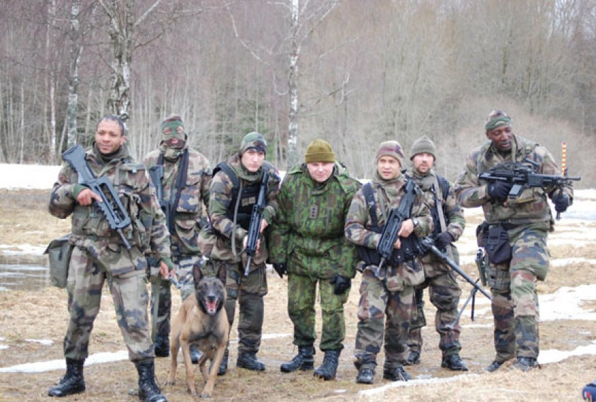 Prancūzijos karių pratybos