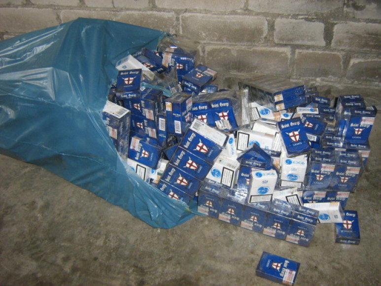 Kontrabandinės cigaretės Švenčionių rajone