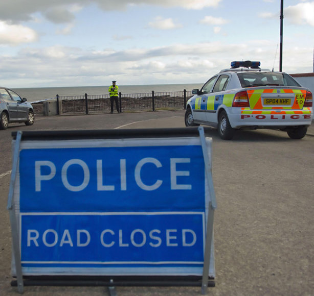 Policija vietoje, kur rastos moters kūno dalys