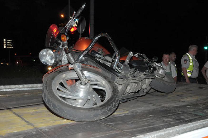 Motociklas po avarijos