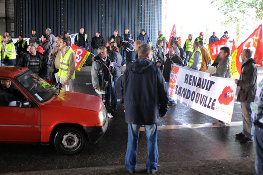 Darbininkų protestai Prancūzijoje