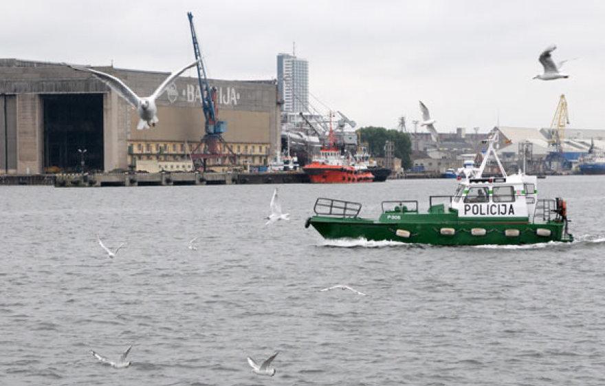 Klaipėdos policijos kateris uoste