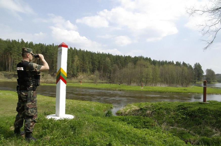 Lietuvos ir Baltarusijos pasienis prie Neries