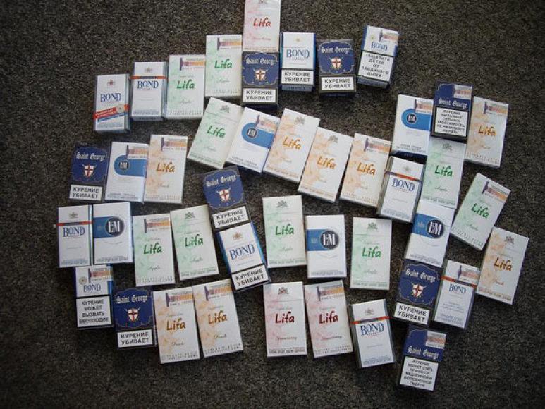 Policijos konfiskuotos cigaretės