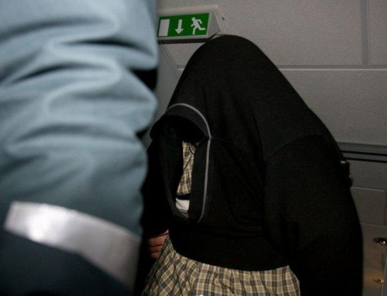 Virginijus R. teisme slėpė savo veidą
