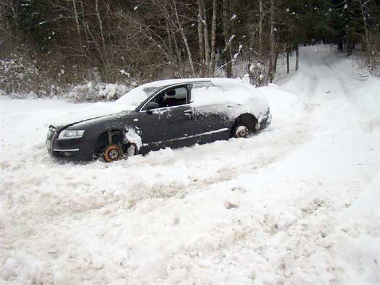"""Suniokotas automobilis """"Audi"""""""