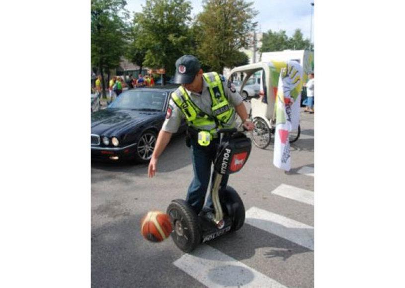 Vilniaus policija teigia pasiruošusi krepšinio čempionatui