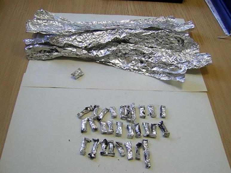 Policijos konfiskuotas heroinas