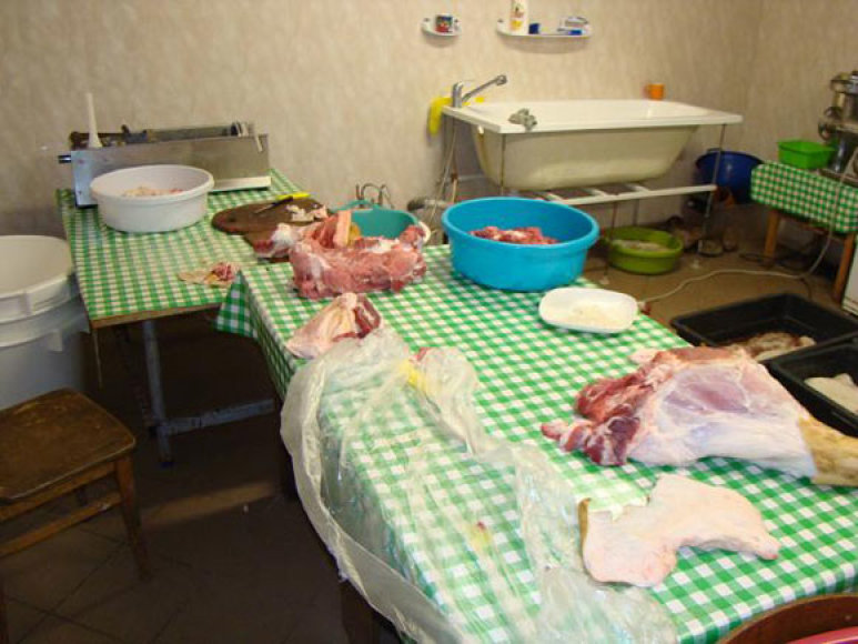 Nelegalus mėsos cechas