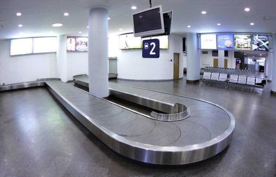 Atnaujintas Vilniaus oro uosto bagažo atsiėmimo sektorius.