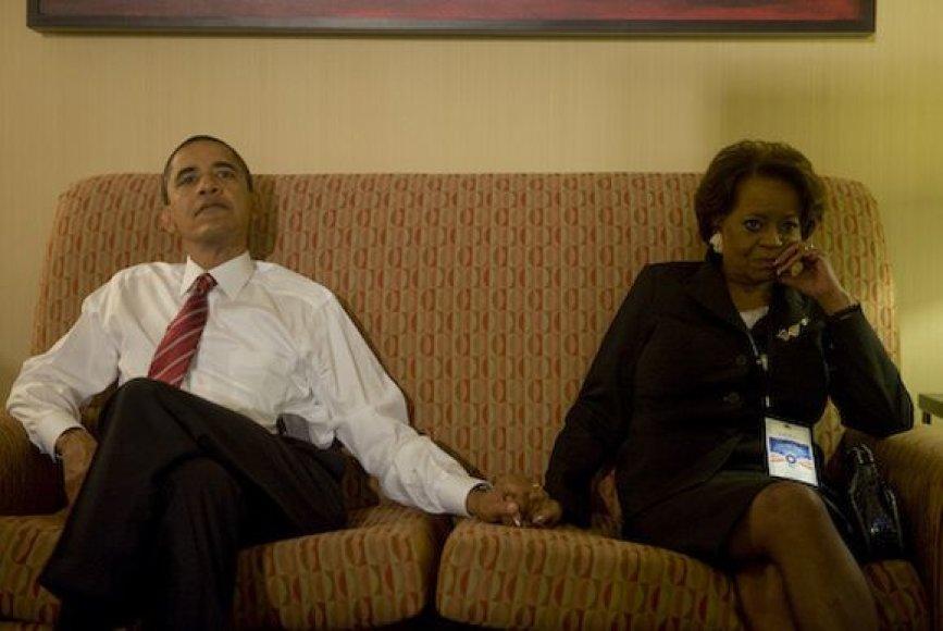 Barackas Obama su uošve Marian Robinson