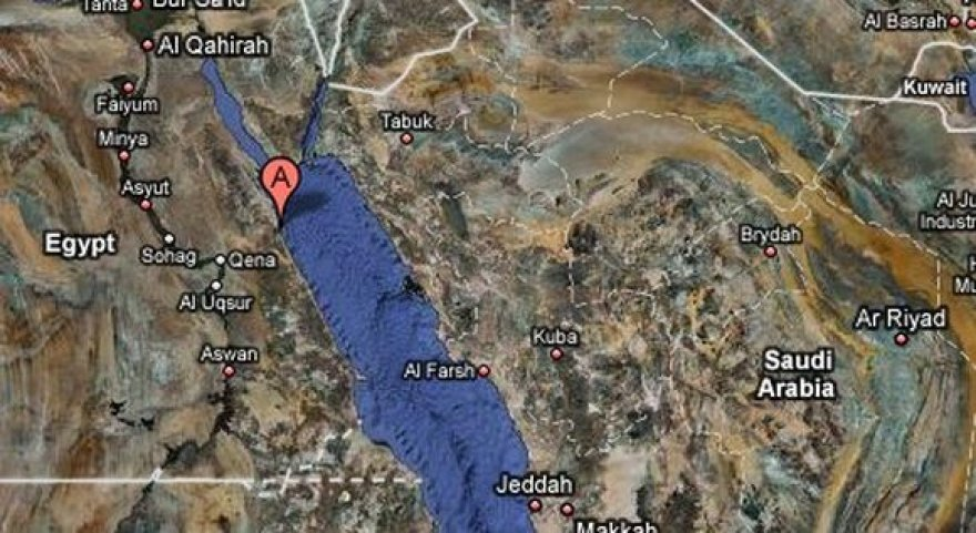 Žemėlapyje pažymėtas Egipto uostamiestis Safaga.