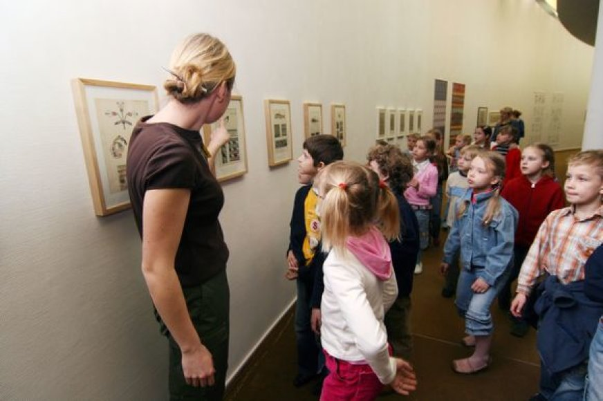 M.Žilinsko dailės galerijoje dažnai vyksta ekskursijos vaikams