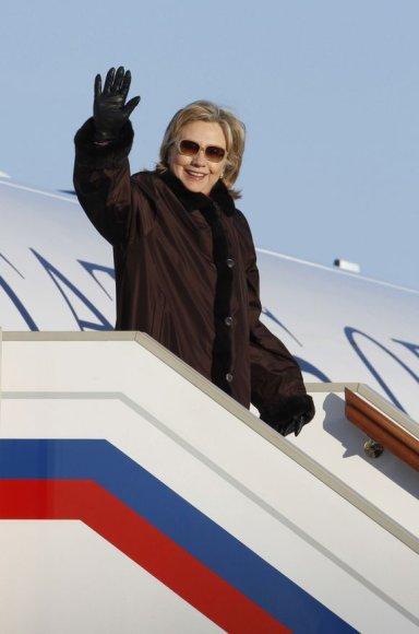 Hillary Clinton atvyko į Maskvą