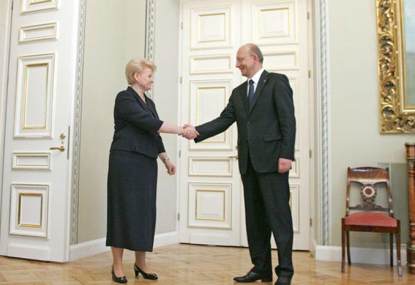 Dalia Grybauskaitė ir Arūnas Valinskas