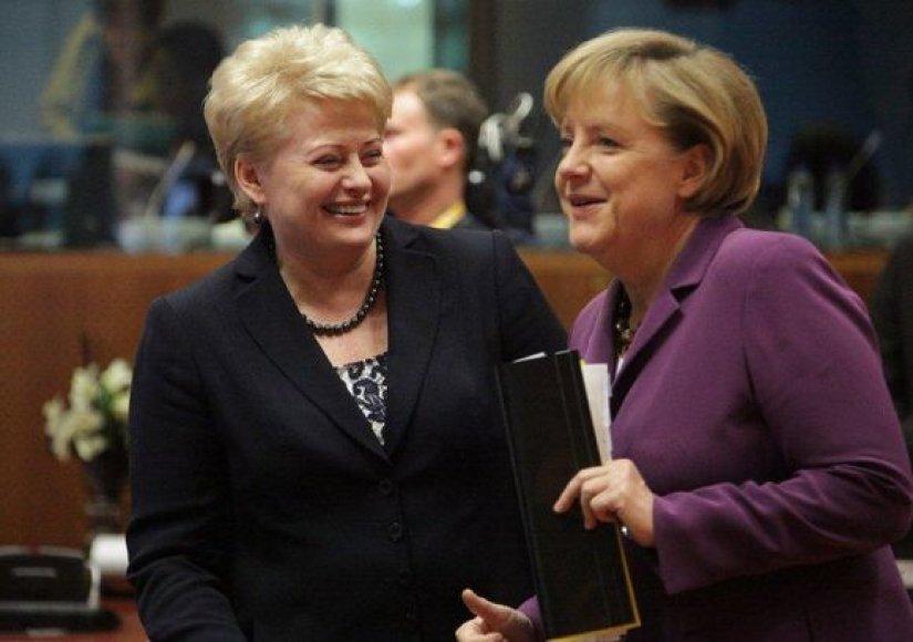 D.Grybauskaitė ir A.Merkel