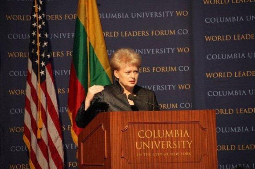 Dalia Grybauskaitė Kolumbijos universitete
