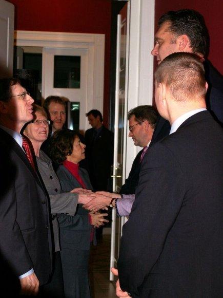 Arvydas Sabonis Liublianoje dalyvavo Lietuvos valstybės atkūrimo dienos minėjime.