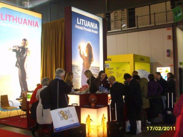Lietuvos stendas Milane vykstančioje parodoje
