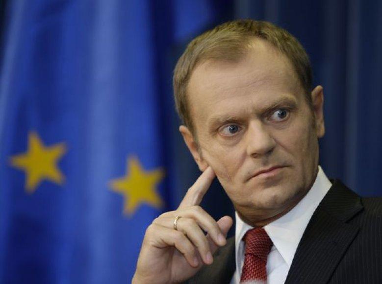 Lenkijos premjeras Donaldas Tuskas.