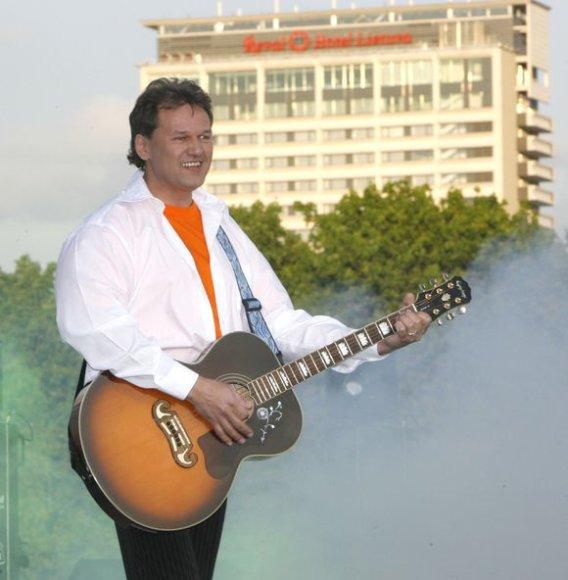 """Grupės """"Vairas"""" lyderis Edmondas Čivinskas"""