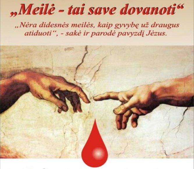 Valentino dienos proga žmonės kviečiami paaukoti kraujo.