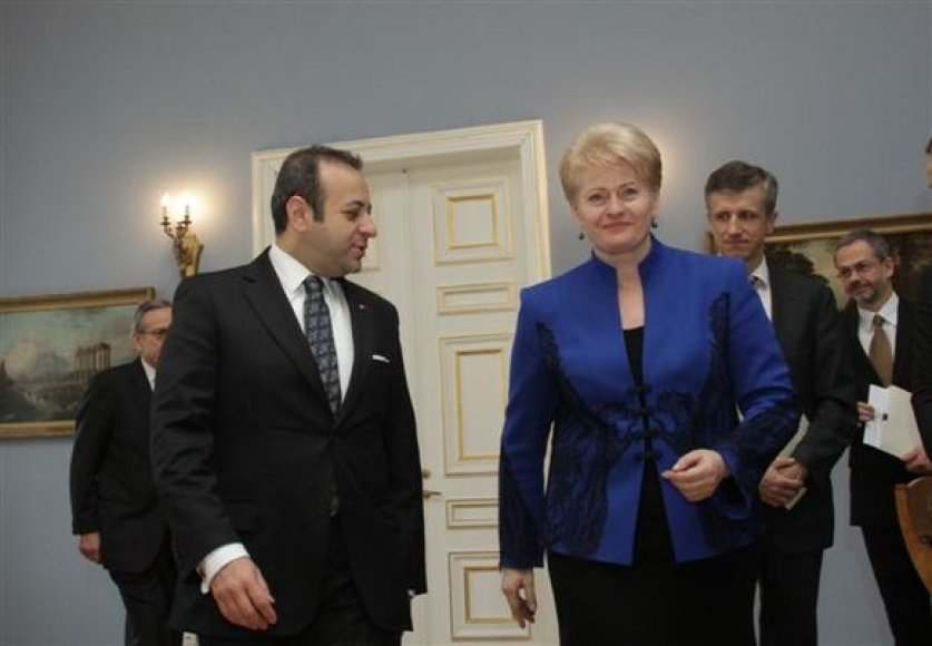 Dalios Grybauskaitės ir Egemeno Bagišo susitikimas