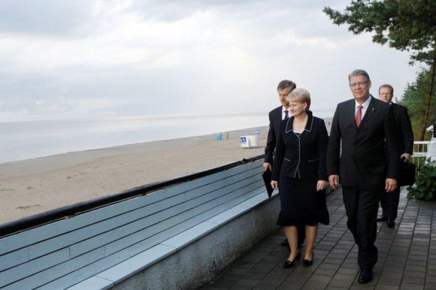 Dalia Grybauskaitė Latvijos Nepriklausomybės dienos minėjime Rygoje