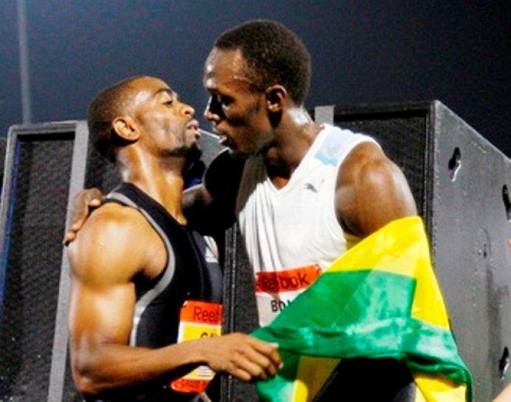 Usainas Boltas ir Tysonas Gay