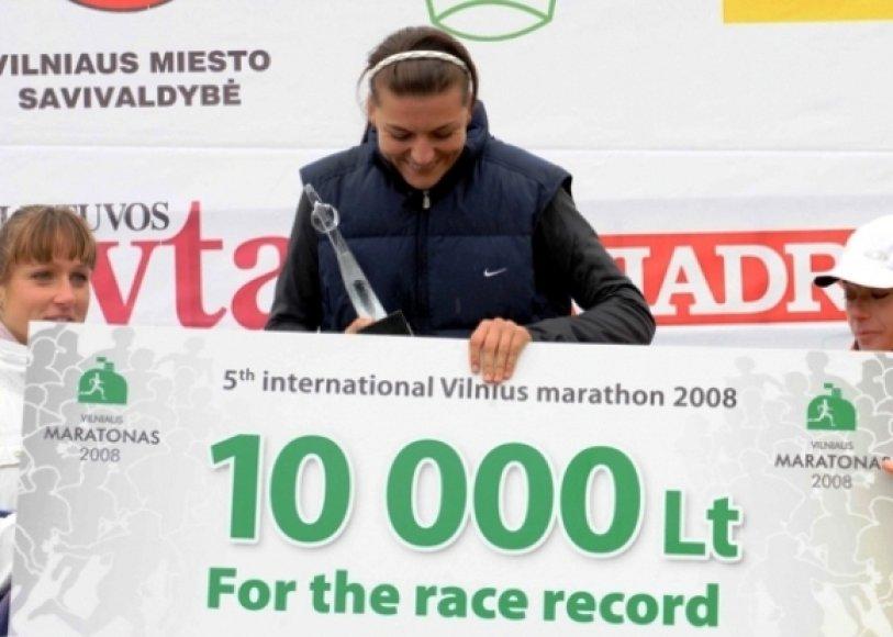 Penktojo Vilniuas maratono laimėtoja Diana Lobačevskė