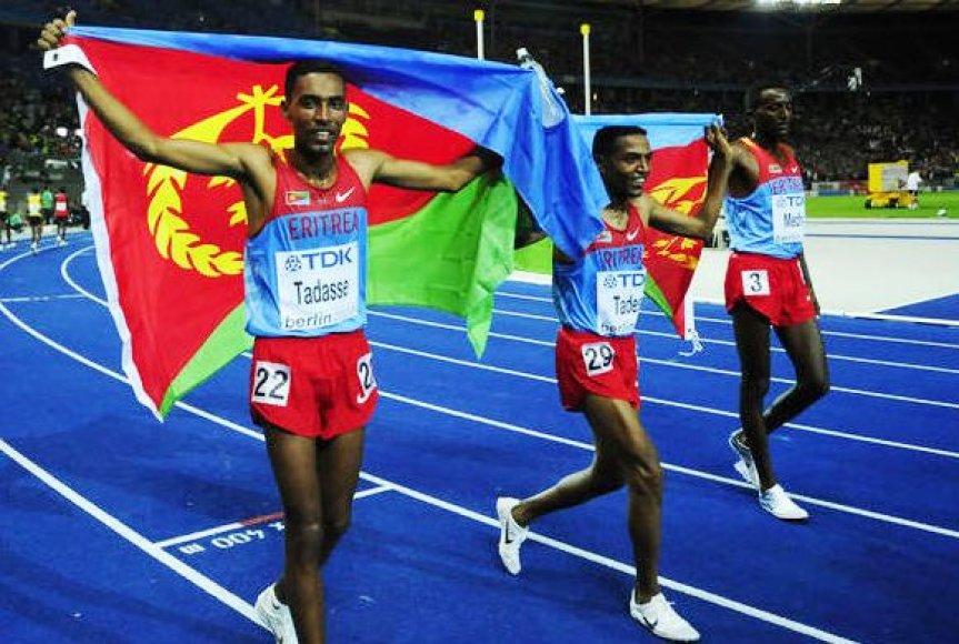 Zersenay Tadese (viduryje)