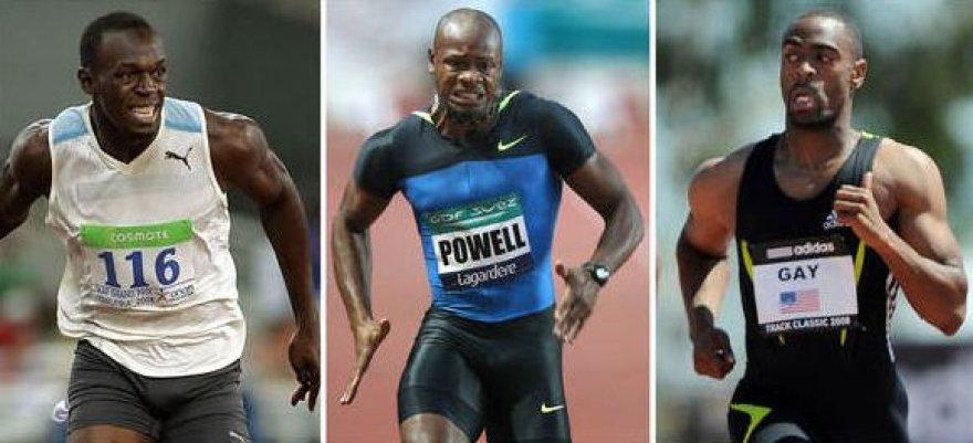 Usainas Boltas, Asafa Powellas ir Tysonas Gay'us