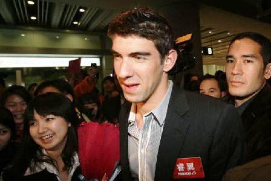 M.Phelpsas vėl kinijoje
