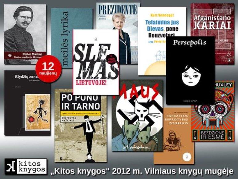 """Leidyklos """"Kitos knygos"""" Vilniaus knygų mugėje pristatomos knygos"""