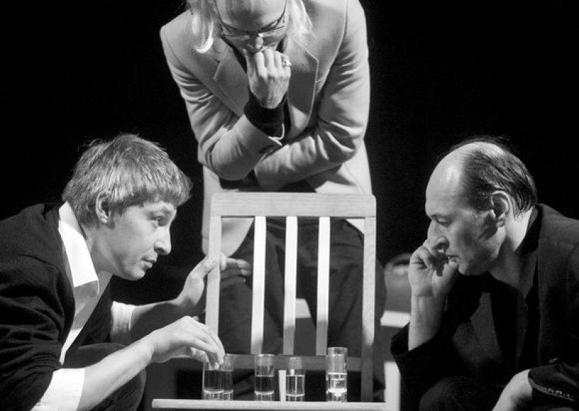 """Spektaklis """"Dėdė Vania"""": D.Gavenonis, J.Verseckas, A.Martinaitis"""