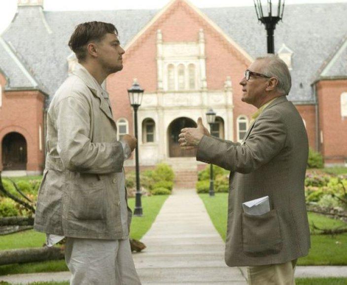 Martinas Scorsese ir Leonardo Di Caprio