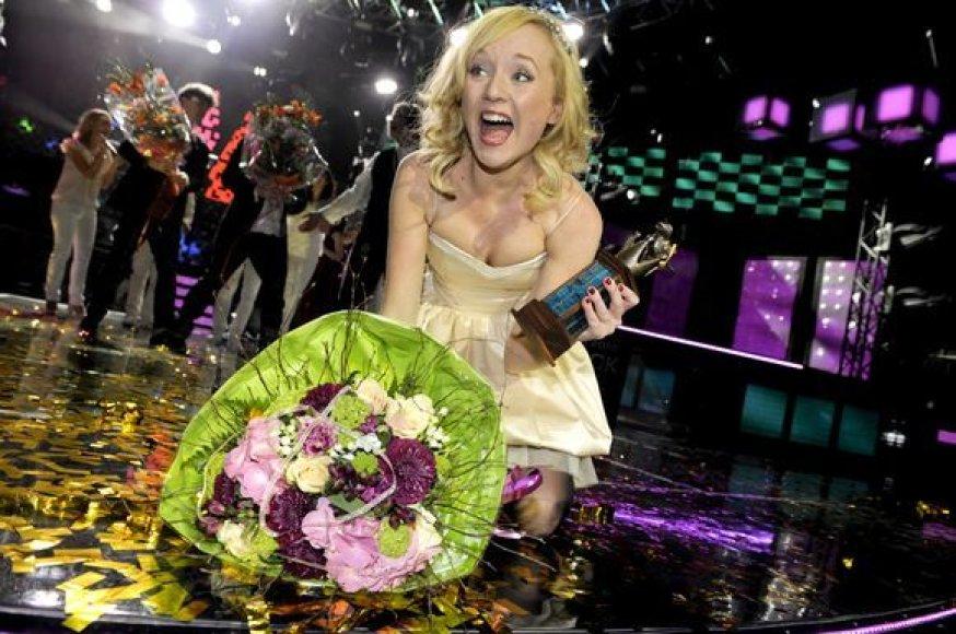 """Švedijos atstovė """"Eurovizijoje"""" Anna Bergendahl"""