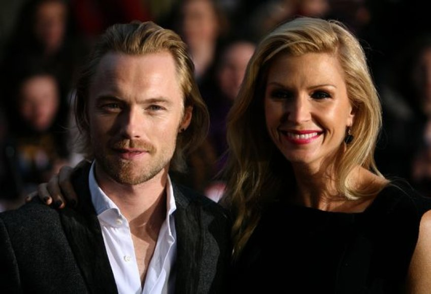 Ronanas Keatingas su žmona Yvonne