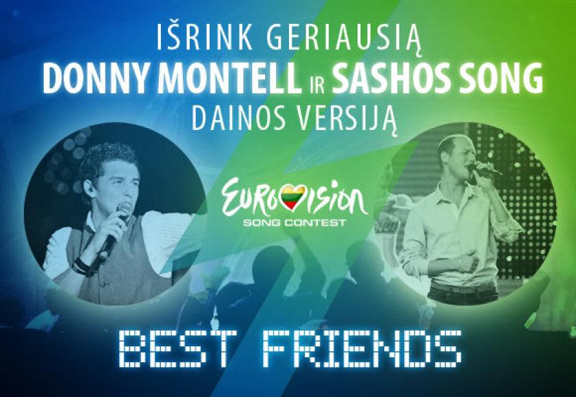 Donny Montell ir Sashos Song eurovizinės dainos versijos rinkimai